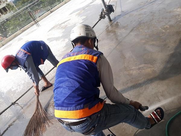 Công trình chống thấm cho nhà anh Nhân tại Âu Cơ quận Tân Bình